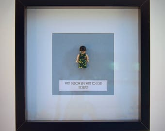 When I grow up I want to .....Join the Army  mini Figure framed picture 25 by 25 cm