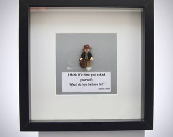 Indiana Jones (Harrison Ford)  mini Figure framed picture 25 by 25 cm