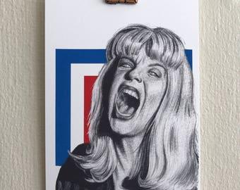 Laura Palmer, Twin Peaks, Sheryl Lee, David Lynch, Screaming, art print, actress, geometric, print, giclee, portrait,