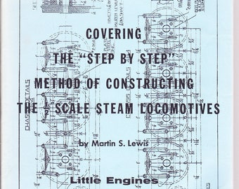 "Scale Steam Locomotives / ""Step by Step"" / Drawing Instructions / Trains / Railroad /1970 Paperback"