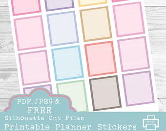 Full Box Printable Planner Stickers, Erin Condren Planner Stickers, Full Box Stickers, EC Planner Stickers, Pastel Stickers, To Do List