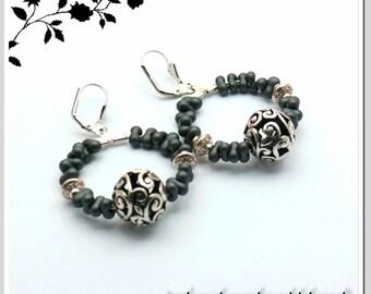 Hoop earrings earrings silver Tibet Pearl Farfalle Art.Nr.: CRE-SIL-002