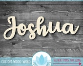 Custom Large Wood Name Sign, Personalized Name Wall Decor, Laser Cut Wood Word, Custom Home Decor, Nursery Decor, Gallery Wall Woord Words