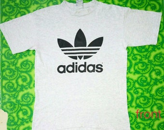 Vintage Adidas t shirt Big Logo / Vintage Adidas shirt Spell Out Made in USA
