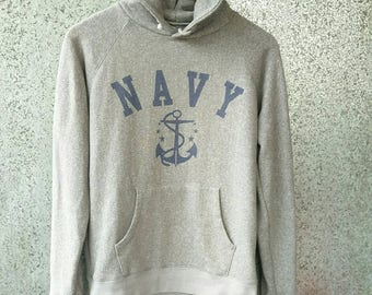 NAVY hoodie by Appuream / Navy hooded gray colour pull over