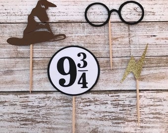 24 Harry Potter Cupcake Toppers