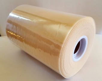 Tulle roll high quality light brown / flesh 15 cm x 82 m tutu and decorative effect