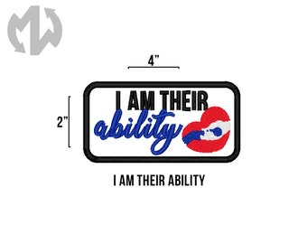 "THEIR ABILITY 2"" x 4"" Service Dog Patch"