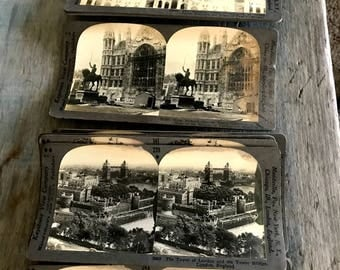 12 Antique Stereo Cards, Keystone View Company