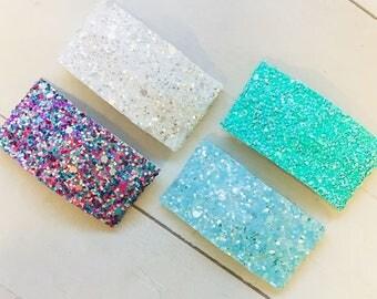 Snap Clip Set, 4 Clip Set, Glitter Clip, Hair Clips, Baby Hair Clip, Toddler Hair Clip