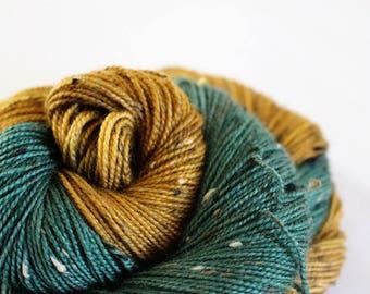 Arya - House Wren - 85/15 superwash merino/ nylon tweed sock yarn