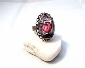 My heart in cage - ring