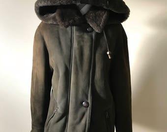 Vintage Italian shearling coat