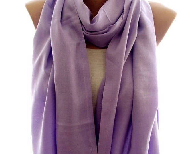 Lilac pashmina scarf, pashmina shawl, scarves for women, soft scarf, cozy scarf, trendy scarf