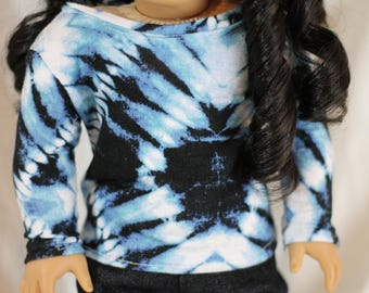 "18"" American Girl Doll Tye-Dye top"