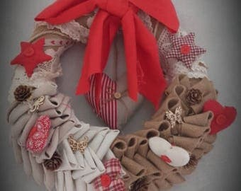Red shabby chic Crown
