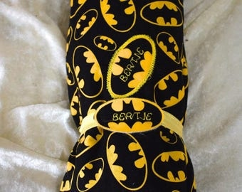 Batman baby blanket personalised cot crib pram comfort  cotton minkey cuddle fabic 80cm x 100cm