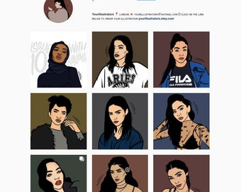 Couples/Groups Custom Illustrations
