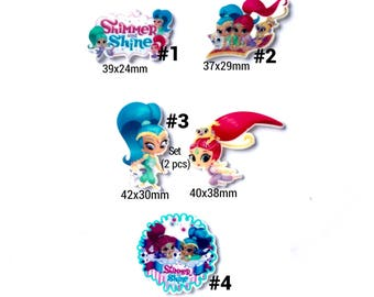 Mix, 5,6,10 pcs shimmer and shine inspired planar resin.