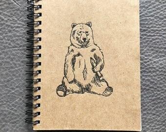 Bear Letterpress Notebook