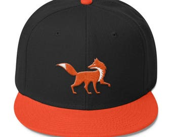 Running Fox Mascot Wool Blend Snapback