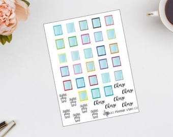Tablet-ipad planner stickers || 28 || with script words