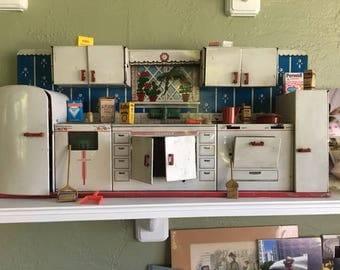 vintage kitchen. Vintage Kitchen Playset  Superior Toy 85 by T kitchen Etsy