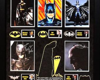 Batman - Signed by all Batman Actors - Framed Artist Series