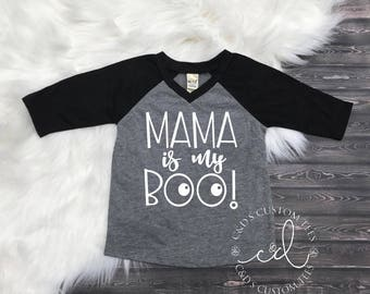 Boys Halloween Shirt - Mama is My Boo Shirt - Halloween Shirt - Trick or Treat - Halloween - Boys Shirt