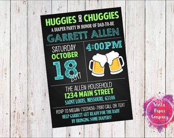 Huggies & Chuggies Diaper Party Invitation (Digital Download)