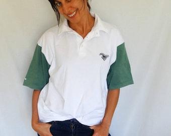 Mens polo player shirt XL horse riding t-shirt white cotton polo shirt monogrammed riding apparel polo shirt Galloper vintage 90s