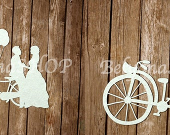 "Laser Cut Chipboard ""Just Married"""