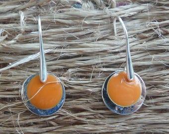 """Medal """"Orange Blossom"""" earrings"""
