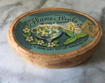 Vintage Party floating candles. Cozy Candle set with tongs, wicks, floating platforms, directions. Make a candle from vegetable oil!