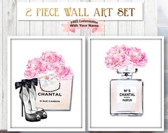 Fashion Wall Art, Fashion Print, Fashion Art, Digital Chanel Print,Digital Art Fashion, Fashion Wall Print,Chanel Shoes,Printable Chanel Set
