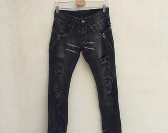 Ppfm Distressed Jeans Biker Punk Designer