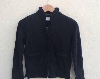 Tsumori Chisato Issey Miyake Zipper Cropped Sweater