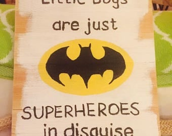 Batman Boys Room Sign