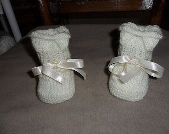 Thier Ecru 0/3 months baby shoes