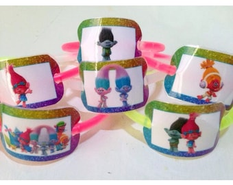 24x Trolls party favor glow bracelets