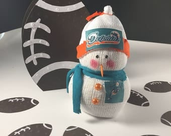 Miami Dolphins,Snowman,NFL,NFL Dolphins,Football,Gift for Dolphins fan,Dolphins fan gift,Dolphins clothing,Dolphins decor,Dolphins accessory