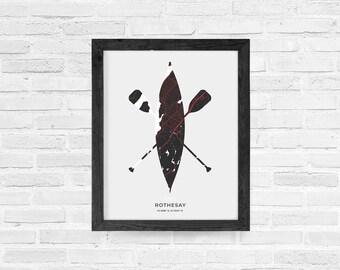 Rothesay Canoe Print