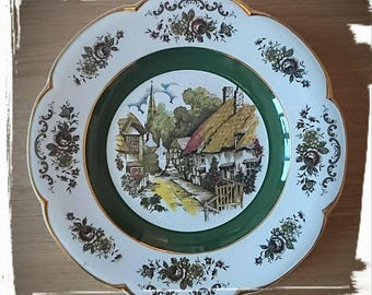Vintage Ascot Service Plate By Wood & Sons England - Alpine White Ironstone - Beautiful Decorative Collectible Plate  Charger