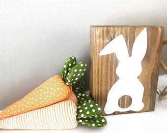 Rustic Bunny Block, Rustic Easter Decor