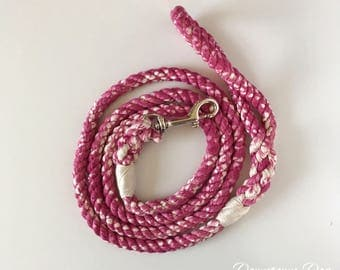 Wine Marbled Rope Dog Leash- Downtown Collection- Dog Leash - Soft Leash