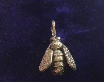 Sterling silver bug fly insect charm vintage # 152s