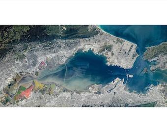 San Francisco Bay Area Aerial Photography Print, California Museum Quality Photo Print