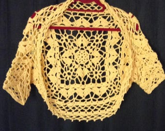 Bolero Shrug - yellow