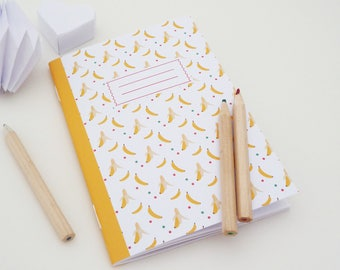 A6 notebook featuring small banana