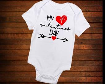 Baby's 1st Valentine's Day Onesie